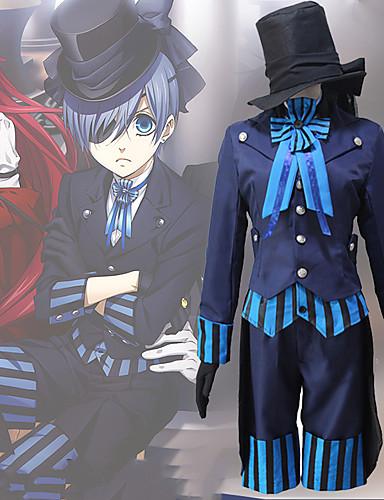 povoljno Maske i kostimi-Inspirirana Crna Butler Ciel Phantomhive Anime Cosplay nošnje Japanski Cosplay Suits Suvremeno Kravata / Kaput / Bluza Za Muškarci / Žene / Top / Rukavice
