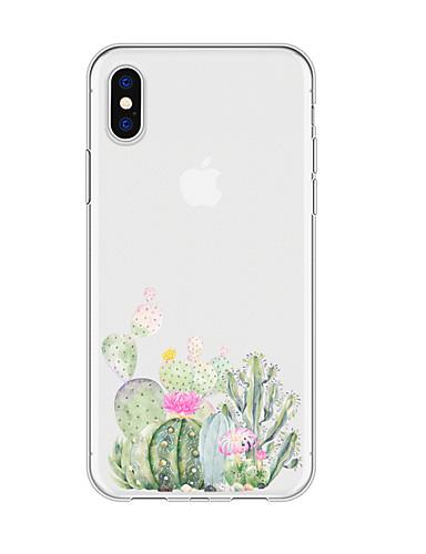 Caso para iphone x xs max xr xs voltar caso capa mole tpu simples cactus macio tpu para iphone5 5s se 6 6 p 6 s sp 7 7 p 8 8p16 * 8 * 1