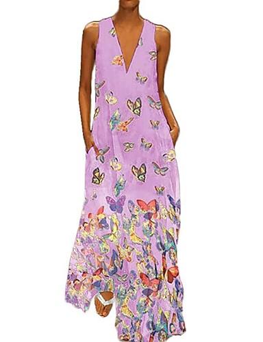 levne Maxi šaty-Dámské Sofistikované Pouzdro Šaty - Zvíře, Tisk Maxi