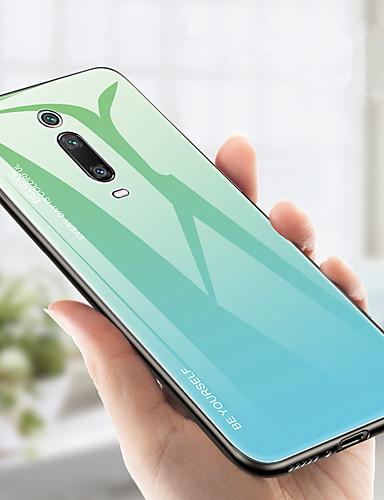 Etui Til Xiaomi Xiaomi Pocophone F1 / Xiaomi Mi Mix 3 / Xiaomi Mi 9T Støtsikker Bakdeksel Fargegradering Hard TPU / Herdet glass