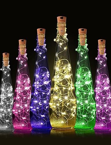 preiswerte Feiertags-Dekorations-Licht-1pc Weinflaschenverschluss LED-Nachtlicht Warmes Weiß Dekoration / Atmosphäre Lampe