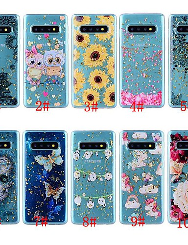 Etui Til Samsung Galaxy Note 9 / Note 8 Støtsikker / Gjennomsiktig / Mønster Bakdeksel Sommerfugl / Hodeskaller / Blomsternål i krystall Myk TPU
