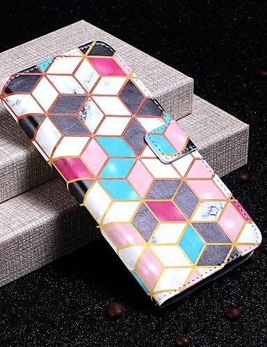 tok Για Samsung Galaxy S9 / S9 Plus / S8 Plus Πορτοφόλι / Θήκη καρτών / Ανθεκτική σε πτώσεις Πλήρης Θήκη Μάρμαρο Σκληρή PU δέρμα