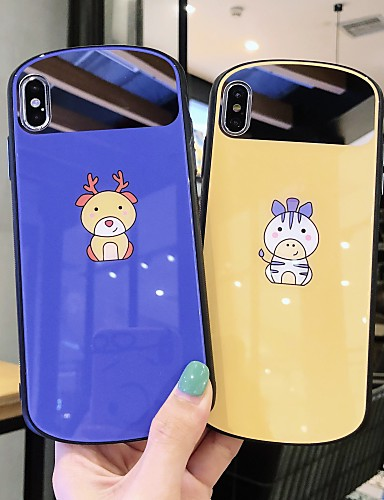 Capinha Para Apple iPhone XS / iPhone XR / iPhone XS Max Ultra-Fina Capa traseira Animal / Desenho Animado TPU