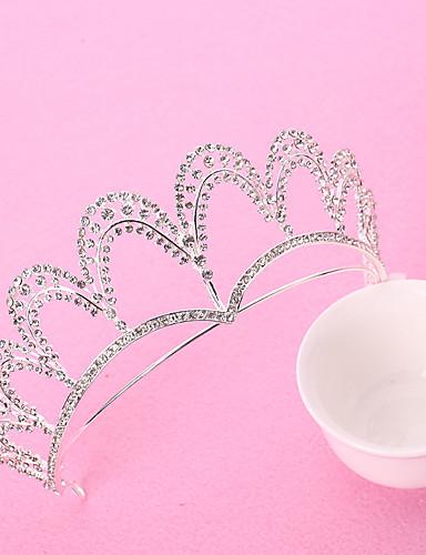 Κράμα Τιάρες με Τεχνητό διαμάντι 1 Τεμάχιο Γάμου / Πάρτι / Βράδυ Headpiece