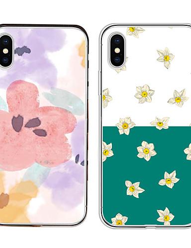Etui Til Apple iPhone XS / iPhone XR / iPhone XS Max Støtsikker Bakdeksel Blomsternål i krystall Myk TPU