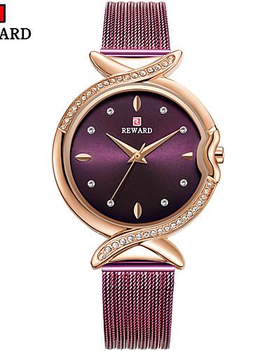 Mulheres Relógios de Quartzo Casual Fashion Preta Prata Dourada Aço Inoxidável Chinês Quartzo Preto Rosa Dourado Roxo Criativo Relógio Casual Legal 1 Pça. Analógico