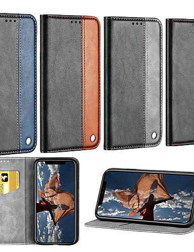 Etui Til Huawei Huawei P20 / Huawei P20 lite / Huawei P30 Kortholder / med stativ / Flipp Heldekkende etui Ensfarget Hard PU Leather