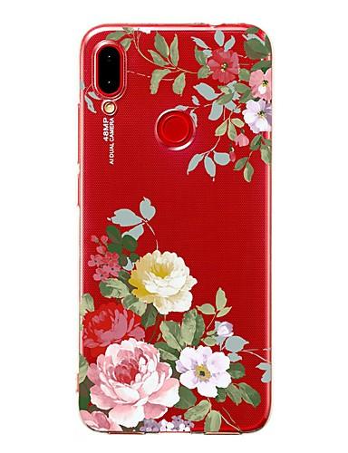 Capinha Para Xiaomi Xiaomi Redmi Note 6 / Xiaomi Pocophone F1 / Xiaomi Redmi 6 Pro Antichoque / Transparente / Estampada Capa traseira Flor TPU