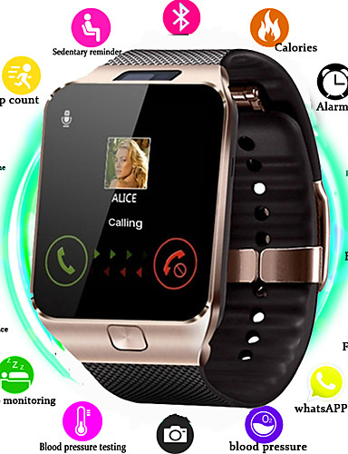 billige Trendy klokker-Dame Digital Watch Fritid Mote Svart Hvit Sølv Silikon Digital Svart Hvit Gull Vannavvisende Bluetooth Smart 30 m 1set Digital