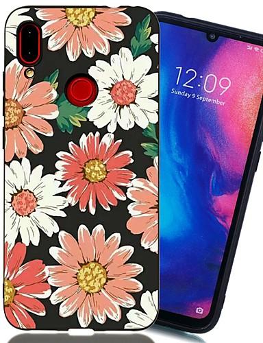 Capinha Para Xiaomi Xiaomi Redmi Note 6 / Xiaomi Redmi Note 7 / Xiaomi Redmi Note 7 Pro Antichoque / Áspero / Estampada Capa traseira Flor TPU