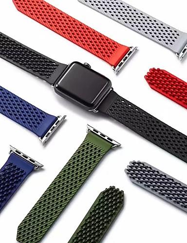 Klokkerem til Apple Watch Series 5/4/3/2/1 Apple Sportsrem Silikon Håndleddsrem