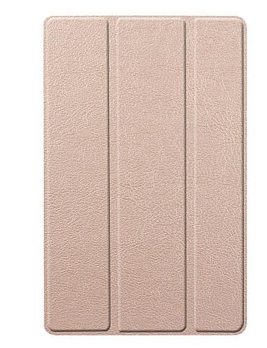 tok Για Samsung Galaxy Samsung Tab S5e T720 10.5 Ανθεκτική σε πτώσεις Πλήρης Θήκη Μονόχρωμο Σκληρή PU δέρμα / PC