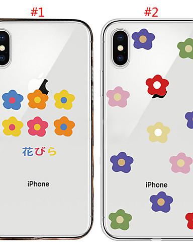 θήκη για Apple iphone xs max / iphone 8 συν διαφανή / shockproof πίσω κάλυμμα λουλούδι μαλακό tpu για iphone 7/7 συν / 8/6/6 συν / xr / x / xs