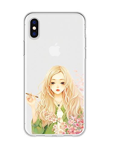 Caso para iphone x xs max xr xs voltar caso capa mole tpu art menina tpu para iphone5 5s se 6 6 p 6 s sp 7 7 p 8 8p16 * 8 * 1