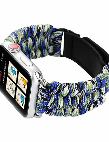 Pulseiras de Relógio para Apple Watch Series 5/4/3/2/1 Apple Pulseira Esportiva Náilon / Couro Legitimo Tira de Pulso
