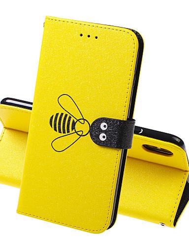 περίπτωση για Apple iphone xr iphone xs max τηλέφωνο περίπτωση pu δέρμα υλικό μέλισσα μοτίβο στερεά χρώμα τηλέφωνο περίπτωση για iphone xs x 7 8 7 συν 8 plus 6 6s 6 συν 6s συν 5 5s se