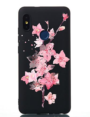 Capinha Para Xiaomi Xiaomi Redmi Note 4X / Redmi 6 / Redmi 5A Antichoque / Áspero / Estampada Capa traseira Flor TPU