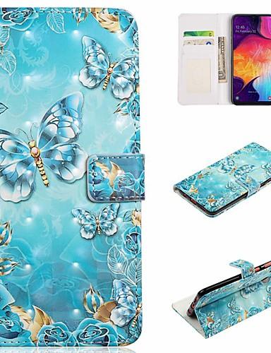 tok Για Samsung Galaxy A6 (2018) / A6+ (2018) / Galaxy A7(2018) Πορτοφόλι / Θήκη καρτών / Ανθεκτική σε πτώσεις Πλήρης Θήκη Πεταλούδα Σκληρή PU δέρμα