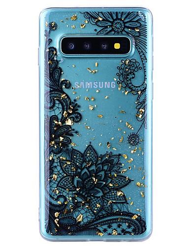 Etui Til Samsung Galaxy Note 9 / Note 8 Støtsikker / Gjennomsiktig / Mønster Bakdeksel Blomsternål i krystall Myk TPU