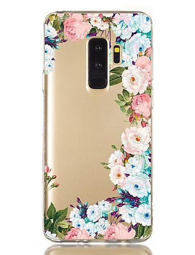 Capinha Para Samsung Galaxy S9 / S9 Plus / S8 Plus Antichoque / Transparente / Estampada Capa traseira Flor TPU