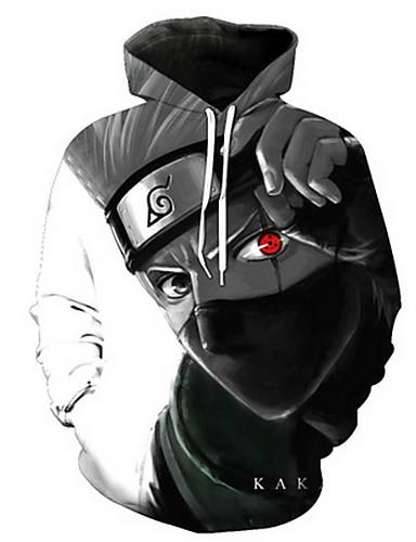 preiswerte Zeichentrick - Kapuzenpullover & Pullover-Naruto Cosplay Mantel Terylen Druck Für Herrn / Damen