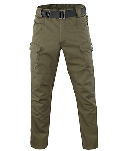 cheap Hiking Trousers & Shorts-Men's Hiking Pants Hiking Cargo Pants Solid Color Winter Outdoor Breathable Durable Wear Resistance Multi Pocket Cotton Pants / Trousers Bottoms Army Green Khaki Camping / Hiking Hunting Fishing XS S