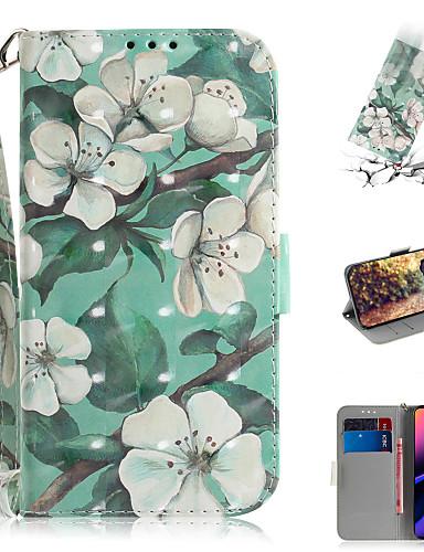 Capinha Para Apple iPhone XS / iPhone XR / iPhone XS Max Carteira / Porta-Cartão / Com Suporte Capa Proteção Completa Flor PU Leather