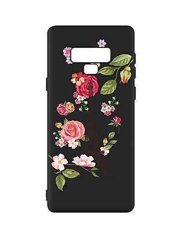 Capinha Para Samsung Galaxy Note 9 Antichoque / Áspero / Estampada Capa traseira Flor TPU