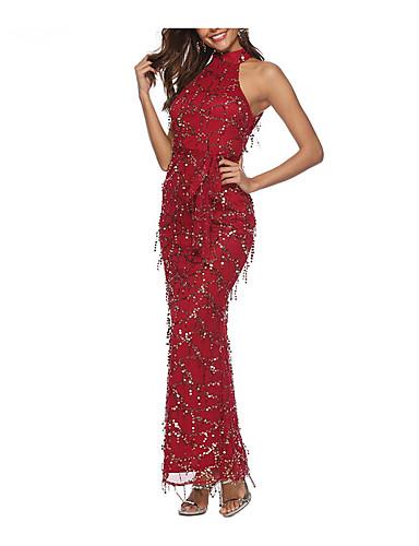 preiswerte Sexy Kleider-Damen Bodycon Kleid - Pailletten Maxi