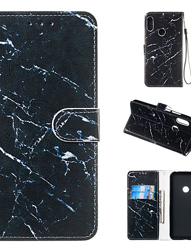 Etui Til Huawei Ære 10 Lite / Huawei Mate 20 lite / Huawei Mate 20 pro Lommebok / Kortholder / med stativ Heldekkende etui Marmor Hard PU Leather