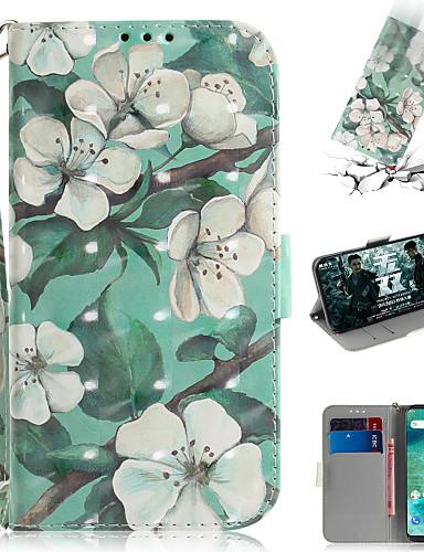 Capinha Para Xiaomi Xiaomi Pocophone F1 / Xiaomi Redmi 6 Pro / Xiaomi Redmi 7 Carteira / Porta-Cartão / Com Suporte Capa Proteção Completa Flor PU Leather