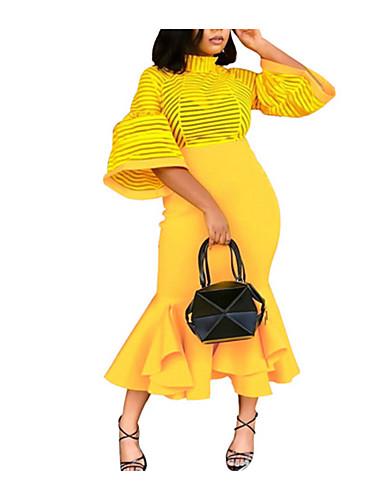 preiswerte Kentucky Derby 2020-Damen Schlank Bodycon Kleid Maxi