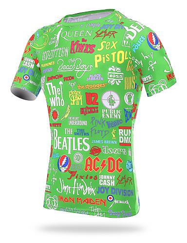 povoljno Odjeća za vožnju biciklom-XINTOWN Muškarci Kratkih rukava Biciklistička majica Crn žuta Bijela Bicikl T-majica Biciklistička majica Majice Brdski biciklizam biciklom na cesti Prozračnost Quick dry Ultraviolet Resistant