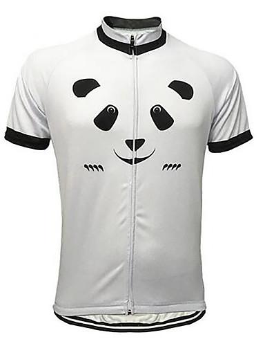 povoljno Odjeća za vožnju biciklom-21Grams Životinja Panda Muškarci Kratkih rukava Biciklistička majica - Crno bijela  / Bicikl Biciklistička majica Majice Prozračnost Ovlaživanje Quick dry Sportski Terilen Brdski biciklizam biciklom