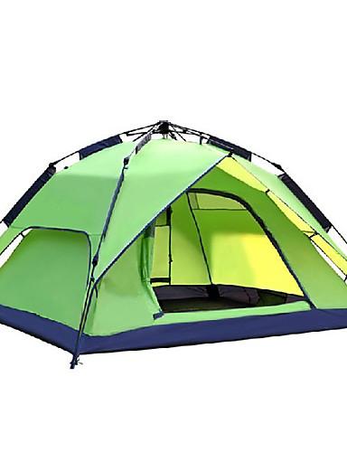 preiswerte Schlussverkaufsangebote im Rauswurf-DesertFox® 3 Personen Automatisches Zelt Außen Wasserdicht Windundurchlässig UV-beständig Doppellagig Camping Zelt 2000-3000 mm für Camping & Wandern Polyester 180*210*118 cm