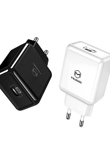 eu / usa usb adapter type c pd 18 w rask usb lader rask lading usb mobiltelefon for iphone macbook samsung xiaomi huawei