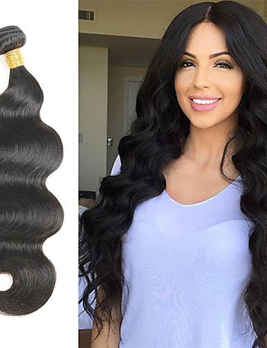 preiswerte Ausverkauf-1 Bündel Peruanisches Haar Große Wellen Unbehandeltes Haar Menschenhaar spinnt 10-30 Zoll Menschliches Haar Webarten 7a Haarverlängerungen / 10A