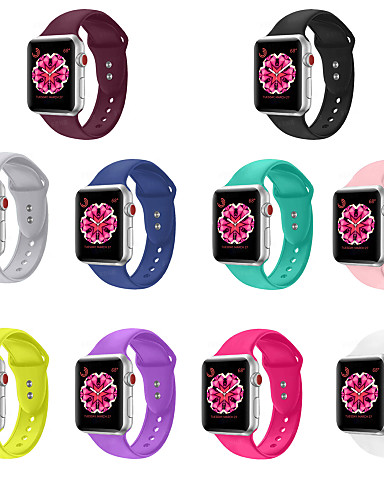 Klokkerem til Apple Watch Series 5/4/3/2/1 Apple Sportsrem Silikon Håndleddsrem