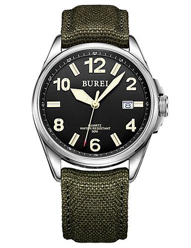 Homens Relógio Militar Quartzo 30 m Impermeável Relógio Casual Analógico Casual Fashion - Preto Um ano Ciclo de Vida da Bateria / Aço Inoxidável