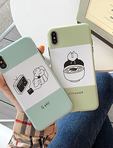 Capinha Para Apple iPhone XS / iPhone XR / iPhone XS Max Anti-poeira / IMD / Backup Capa traseira Desenho Animado Macia TPU