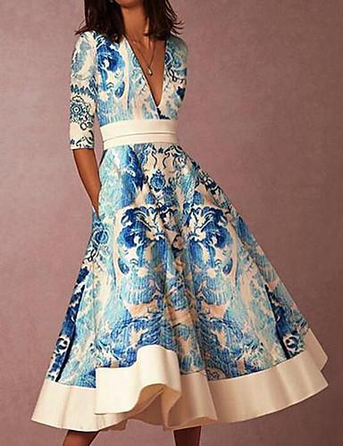 Damen Street Schick Elegant Etuikleid Swing Kleid ...