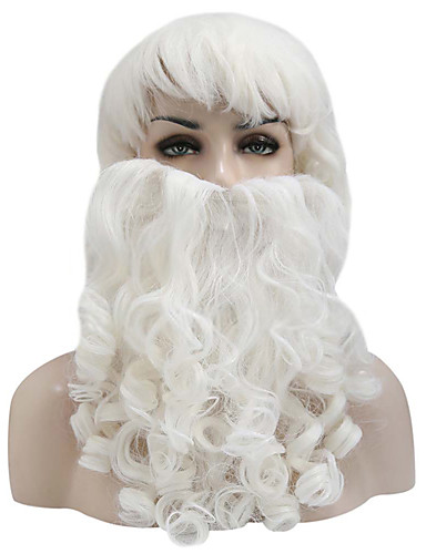 Adult Deluxe Ocean King Long Hair Wig and Beard Costume Cosplay Accessory