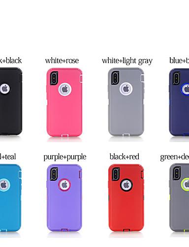 Capinha Para Apple iPhone 8 Plus / iPhone 7 Plus / iPhone 6s Plus Antichoque / Anti-poeira Capa traseira Sólido silica Gel
