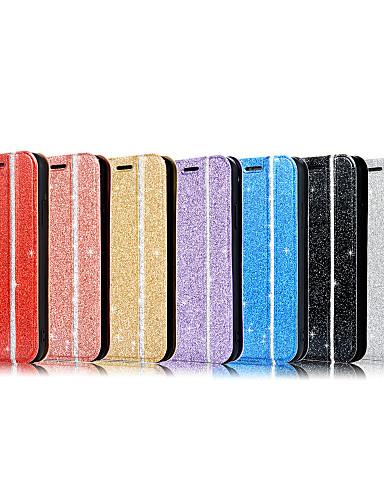 Capinha Para Apple iPhone XS / iPhone XR / iPhone XS Max Flip / Glitter Brilhante Capa Proteção Completa Glitter Brilhante TPU
