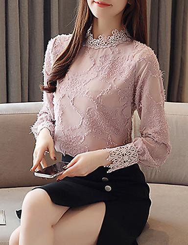 billige Dametopper-Skjorte Dame - Ensfarget, Blonde / Dusk / Lapper Grunnleggende Hvit