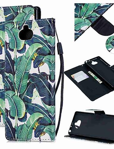 Capinha Para Sony Sony Xperia 10 / Sony Xperia XZ3 / Xperia XZ2 Compact Carteira / Porta-Cartão / Antichoque Capa Proteção Completa Árvore PU Leather
