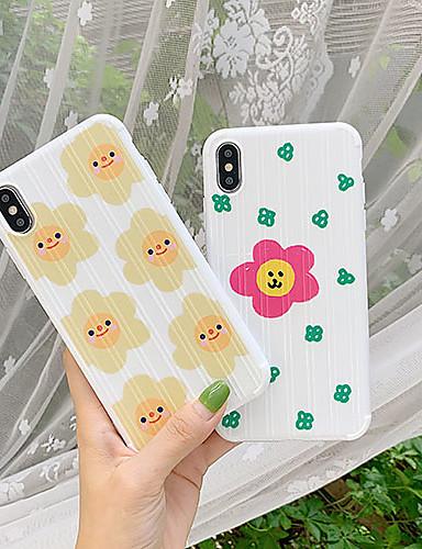 Capinha Para Apple iPhone XS / iPhone XR / iPhone XS Max Ultra-Fina / Estampada Capa traseira Flor TPU