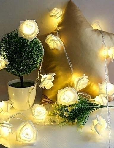 preiswerte Feiertags-Dekorations-Licht-10 led rose weihnachtsdekoration lichterketten simulation led licht post laterne beleuchtung lichterkette hause blumen party