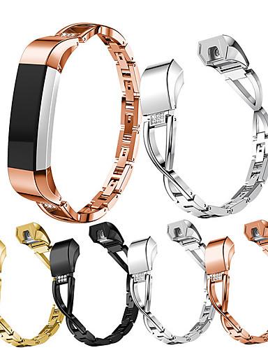 Klokkerem til Fitbit Alta HR / Fitbit Alta Fitbit Sportsrem / Moderne spenne / Smykkedesign Rustfritt stål Håndleddsrem